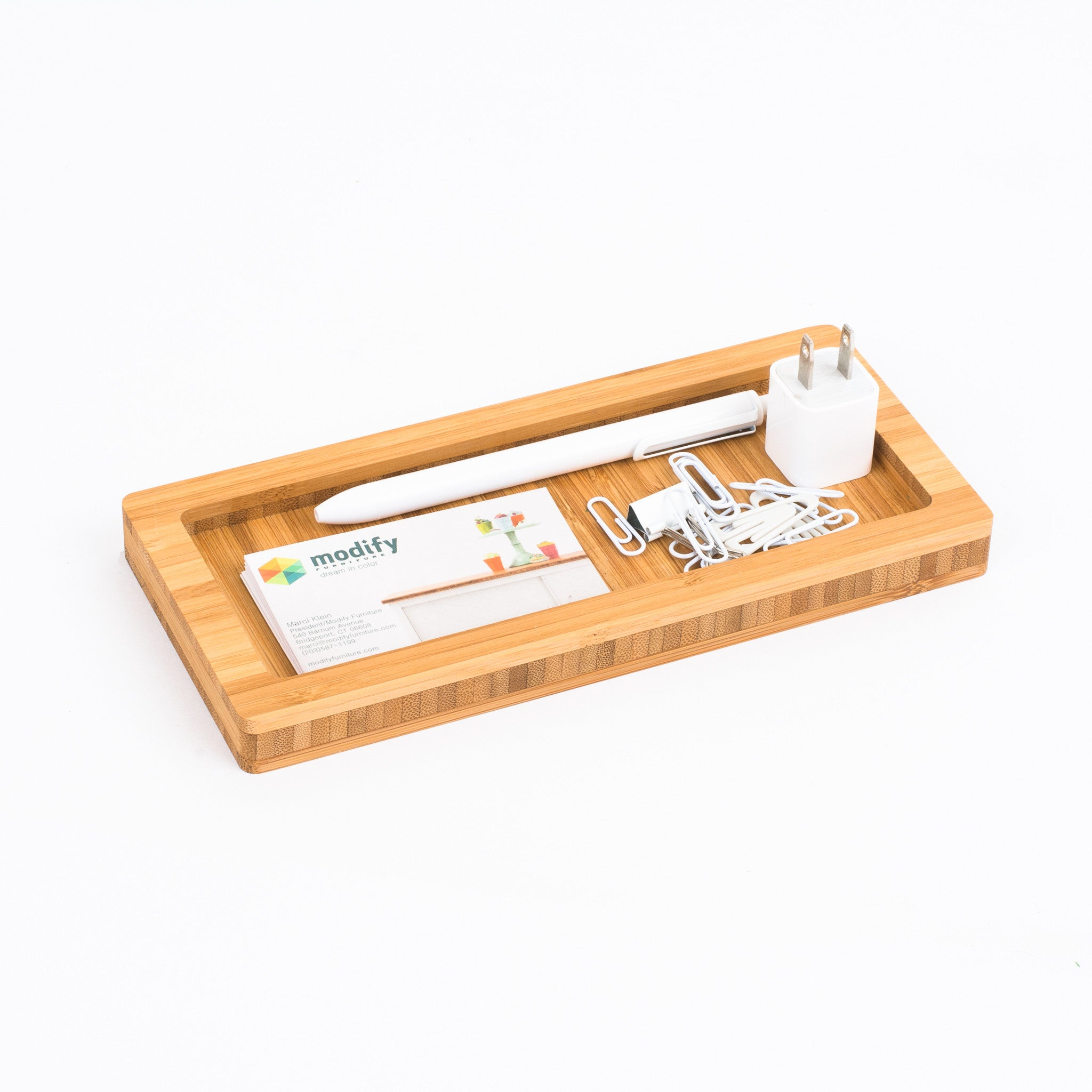 ... Modify Drop In Desk Accessory Desk Caddy In Eco Friendly Bamboo Low Voc  Finish