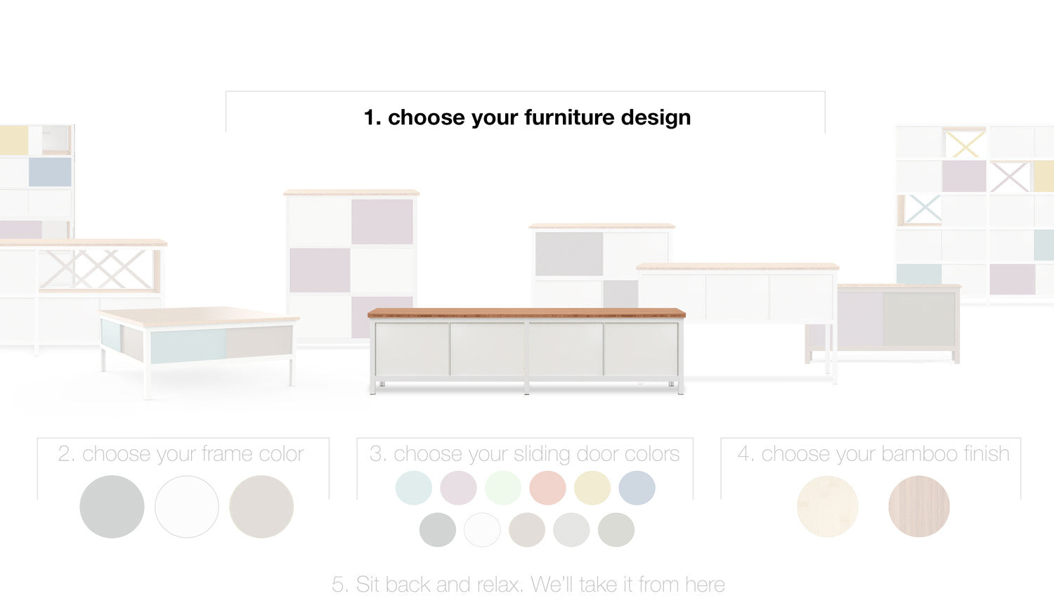 modify custom furniture in 11 shapes