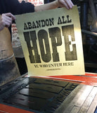 Abandon all hope (black)