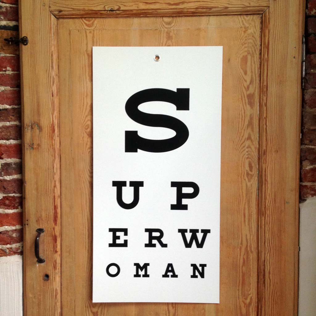 SUPERWOMAN eye-chart