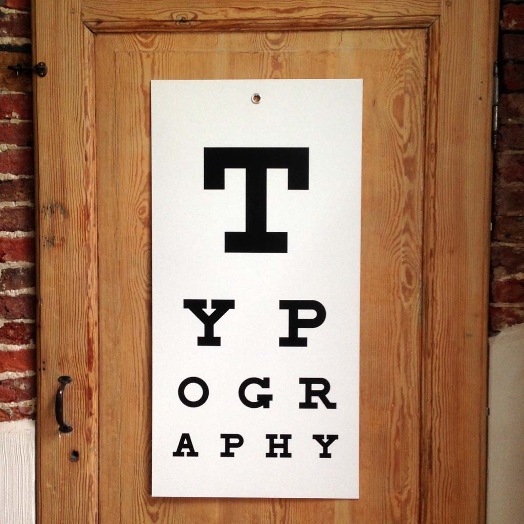 TYPOGRAPHY eye-chart