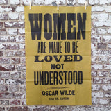 Women are made to be loved (yellow)
