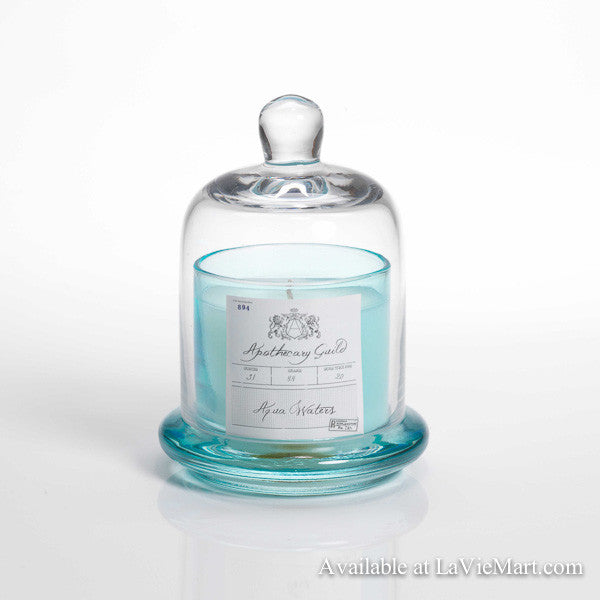Apothecary Guild Scented Glass Dome Candle - Aqua Waters