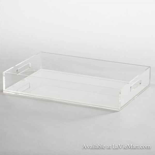 Clear Rectangle Acrylic Tray