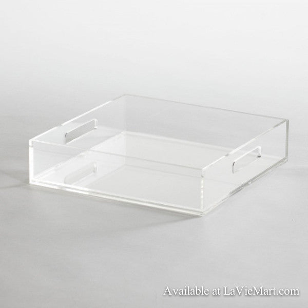 Clear Square Acrylic Tray