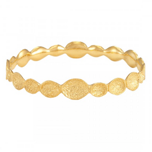 La Vie en Rose, jewelry, Andrea Infinity Pod Bangle Gold 18K
