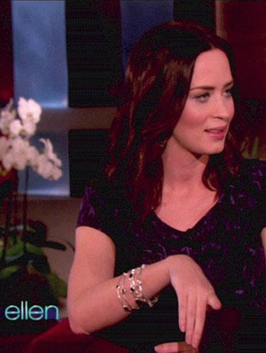 La Vie en Rose, Emily Blunt, Melinda Maria, Laura Mini Pod Bangle Gold 14K