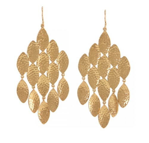 La Vie en Rose, Emma Lee Pod Earrings Gold