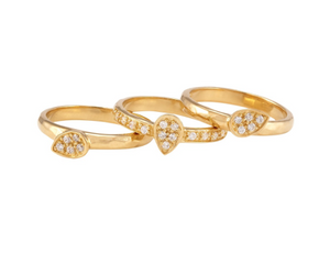 Dharma Stacking Rings Gold White CZ