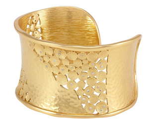 Kate Cuff Gold White CZ