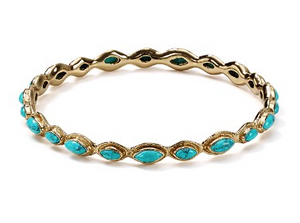La Vie en Rose, Gwyneth Bangle Gold Turquoise
