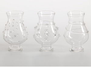 La Vie en Rose, Set of Three Raised Bud Vases