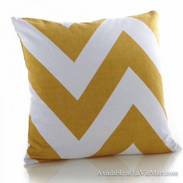 Yellow Chevron Pillow