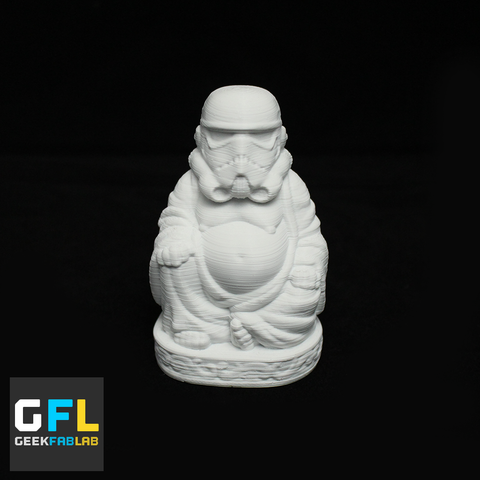 3D Printed Storm Trooper Buddha