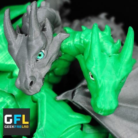 3D Printed Articulated Dragon