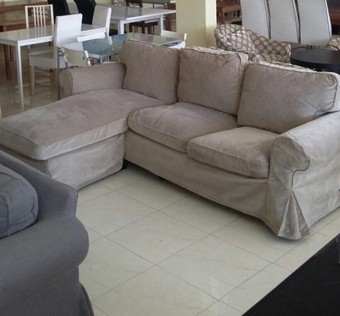 Ektorp two seat sofa and chaise longue ukea riyadh for Sofa 1 plaza chaise longue