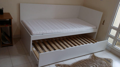 flaxa day bed frame white 90x200 cm ukea riyadh. Black Bedroom Furniture Sets. Home Design Ideas