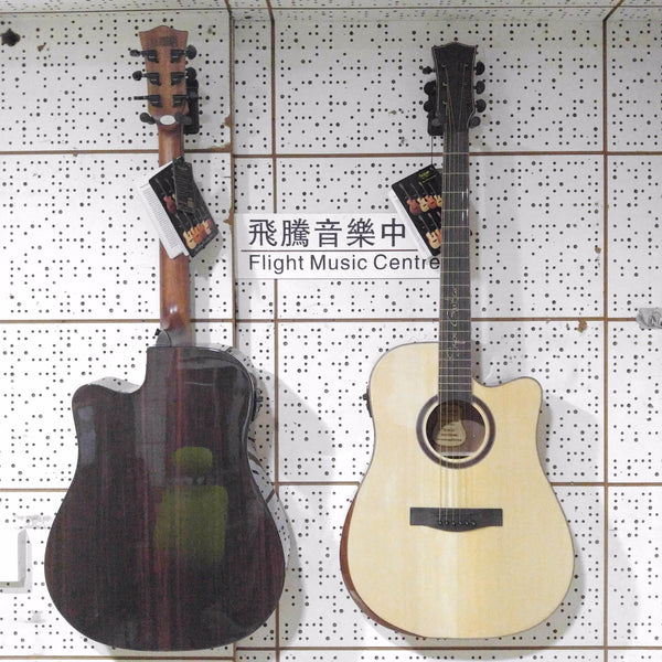 2021 Pick 41 inch Spruce Rosewood Glossy Spanish handmade SQOE electric wood knot him