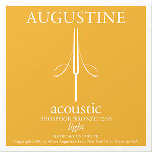 100%美國製造 Augustine 鋼線結他套弦 Acoustic Light Phosphor Bronze 12-53