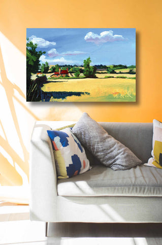 Room interior with Yorkshire inspired art by Neil McBride