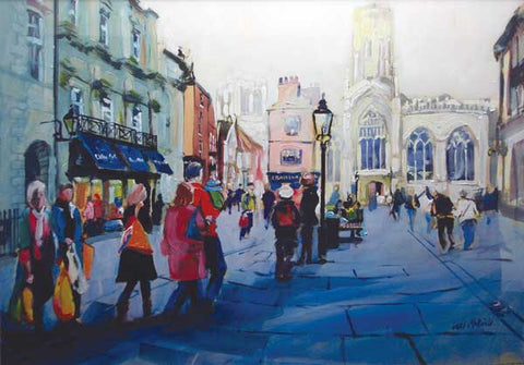 Yorkshire art as seen through the eyes of Yorkshire artist Neil McBride. This is a painting of St Helen's Square in York