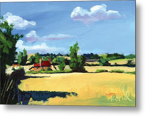 Crayke Farm North Yorkshire - Metal Print - Neil McBride Art