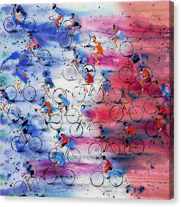 Cycling art celebrated in this Tour de France canvas art print © Neil McBride 2019
