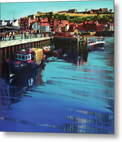 Whitby New Quay - Metal Print