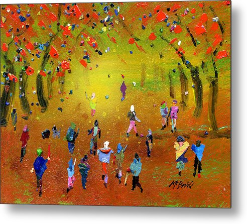 Autumn Amble - Metal Print - Neil McBride Art