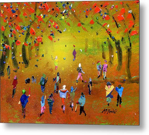 Autumn Amble - Metal Print