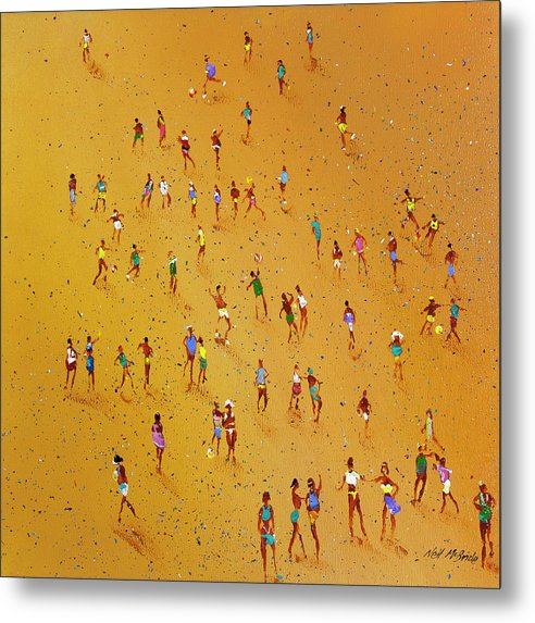 Beach Games - Metal Print - Neil McBride Art