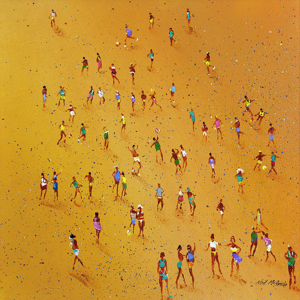 Beach Games - Art Print on paper - Neil McBride Art