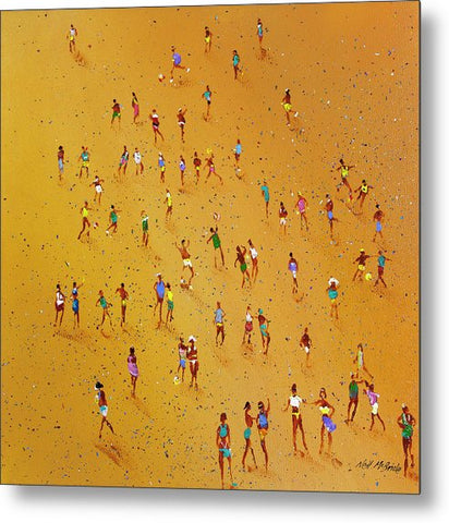 Beach Games - Metal Print