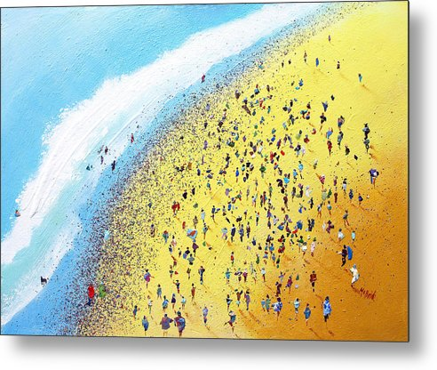 Beach Party celebrated on these metal art prints by artist Neil McBride