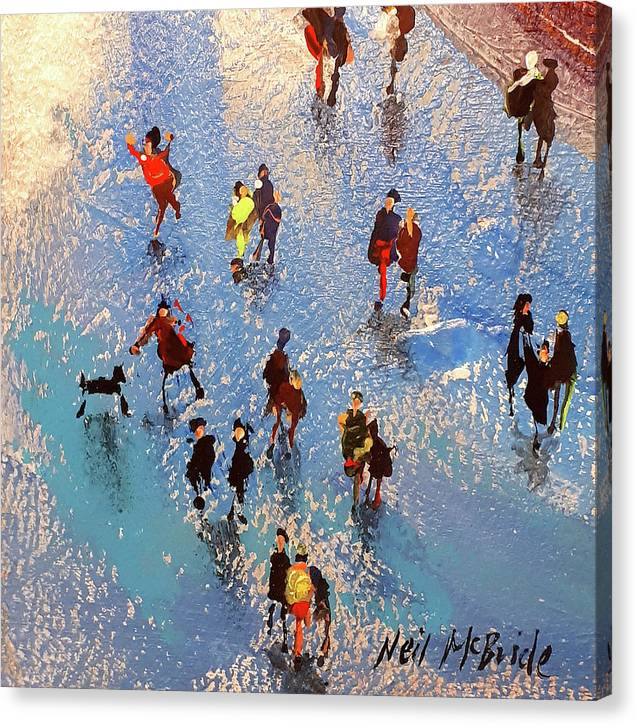 Beach Reflections - Canvas Print