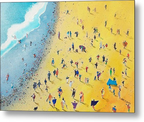 Beachcombing captured on a Metal Print by Neil McBride Art