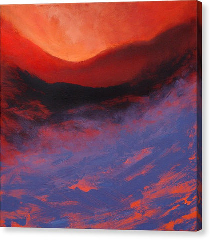 Blue Mist Rising - Canvas Print