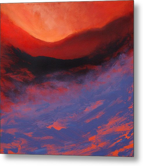 Blue Mist Rising on a metal art print by artist Neil McBride