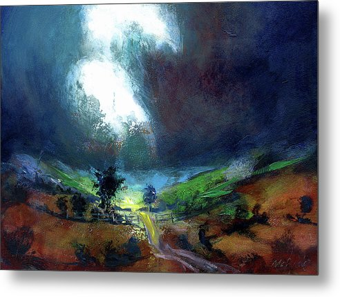 Burst of Light on a landscape art print on metal by artist Neil McBride