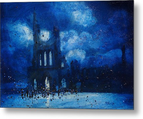 Byland Abbey gathering captured on stylish metal art prints by Neil McBride