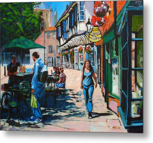 Yorkshire art prints like this one of College street in York are available here