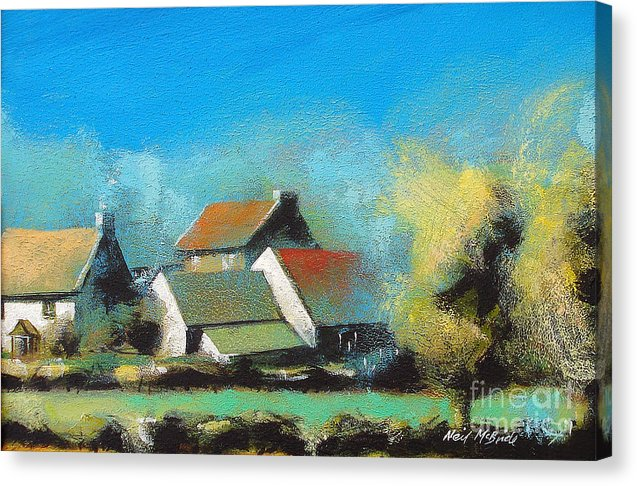 Crich Farm - Canvas Print - Neil McBride Art