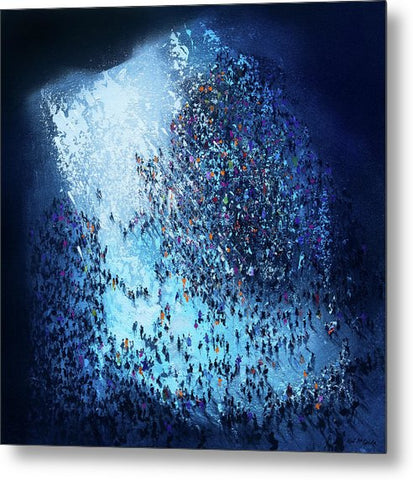 Crowd Out Of Concert - Metal Print