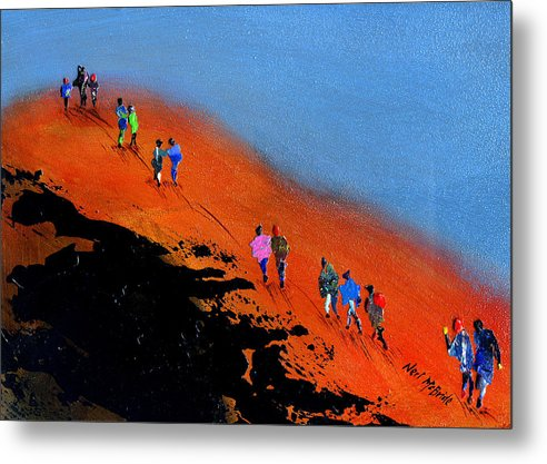 Final Push For The Summit - Metal Print - Neil McBride Art