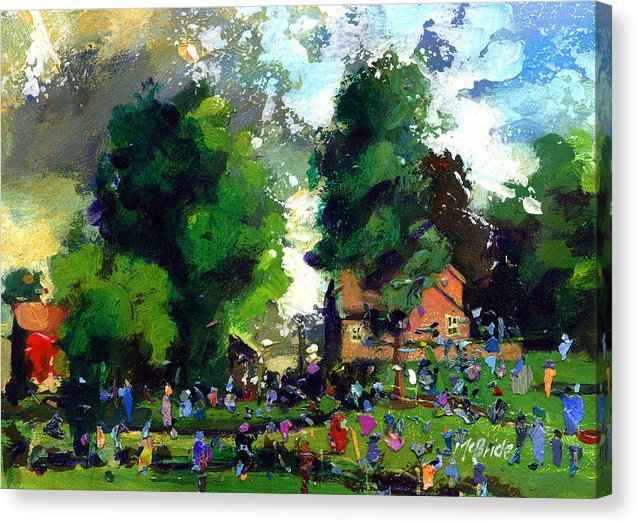 Garden Party painting reproduced on a canvas print  © Neil McBride 2019