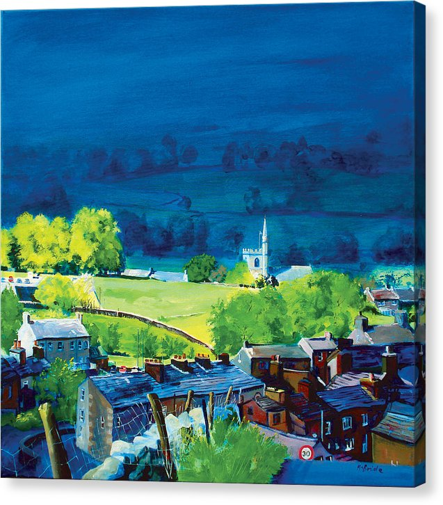 Gayle & Hawes, Yorkshire Dales - This Canvas Print makes the ideal gift for art lovers - Neil McBride Art