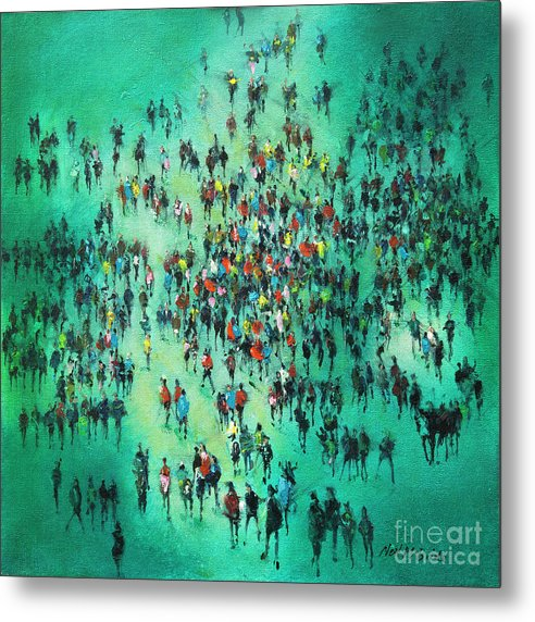 Green Piece - Metal Print - Neil McBride Art