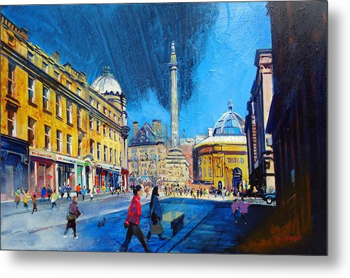 Grey Street Newcastle - Metal Print - Neil McBride Art