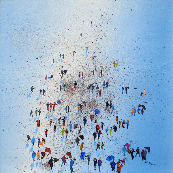 Arctic Stroll, Limited Edition Art Print of a crowd of people by British visual artist Neil Mcbride