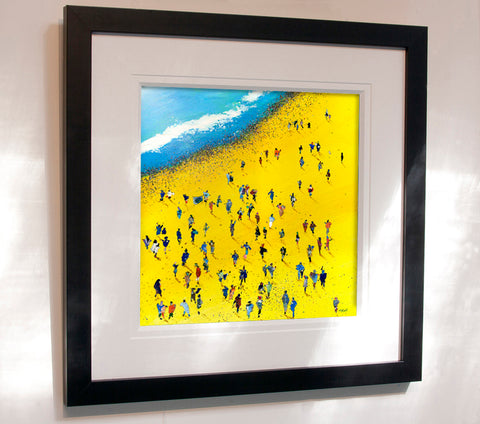 Beach Bums, framed original painting on board - Neil McBride Art